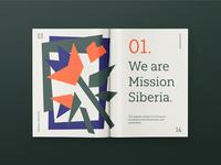 Mission Siberia'19 editorial concept