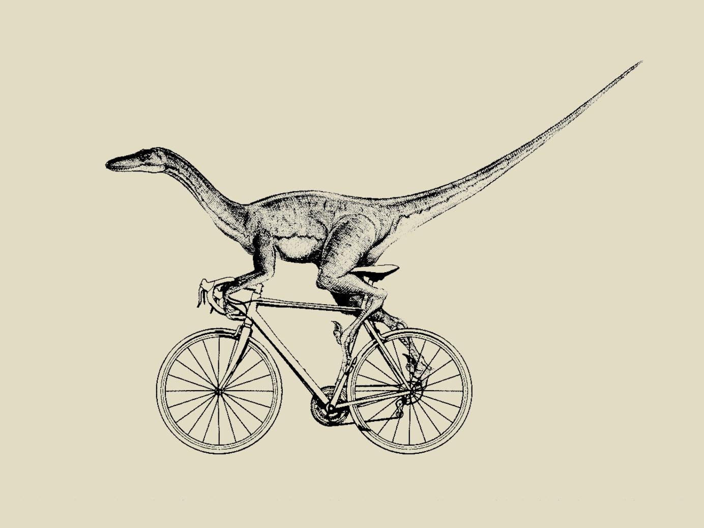 Velociraptor Valera dinosaur bycicle valera velociraptor illustration design t-shirt