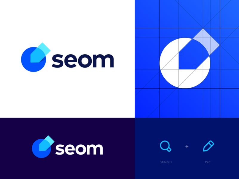 SEOM - Logo Design logomark lettermark blogging write pencil pen search blogger logo branding digital marketing seom logo brand identity brand logo design blog creative logo modern logo