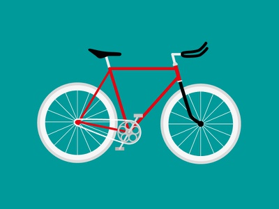 Bicycle bicycle illustration dribbble 2014 first vector fixed gear bike ride
