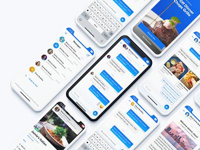 Messaging App UI mockup porfolio uxui chatbot chat portfolio gradient messenger ui design
