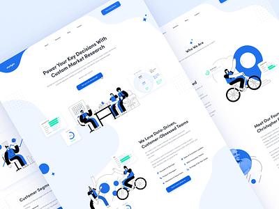 Startup Agency Website ux colorful startup agency webflow figma web character responsive flat illustration website design ui
