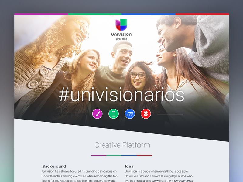 #Univisionarios Case Study tumblr design website responsive social campaign digital case study