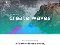 Wave website design