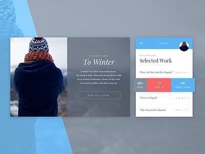Winter UI sketchapp sketch material cool winter design widgets flat ui