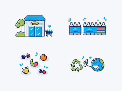 Website Illustrations water character ui web print offset flat illustrations website