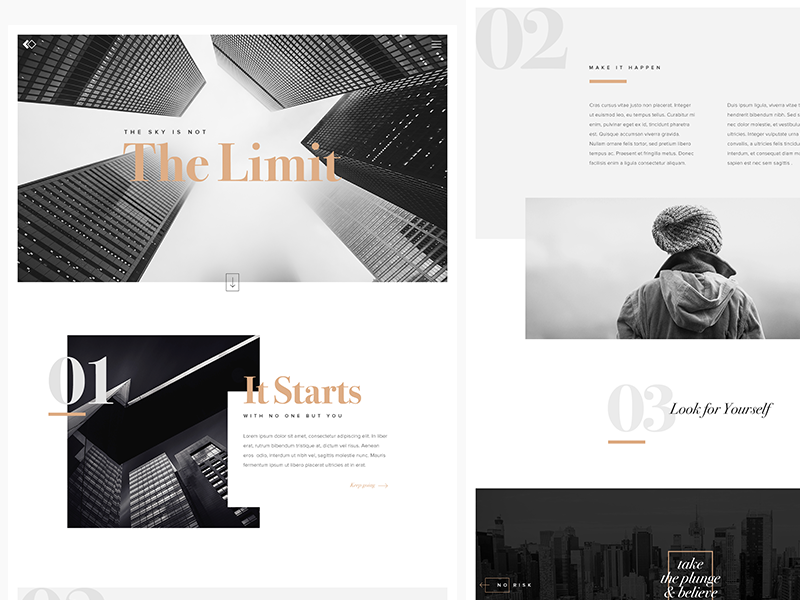 Limitless oresource white space exercise editorial photography ui typography design website