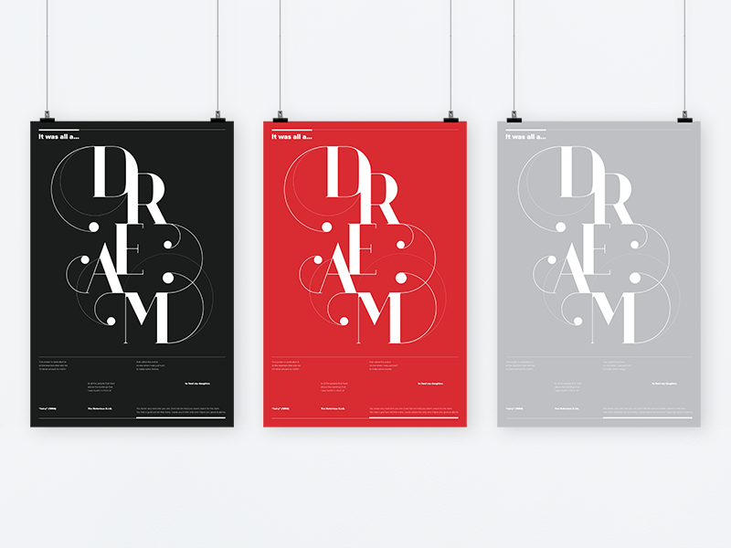 Dream Poster dream juicy biggie hiphop rap contest design poster typography