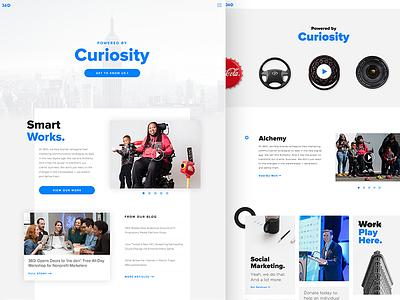 360i Website Explorations ux concept visual exploration ui design web website