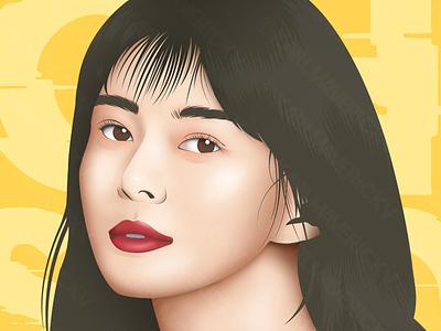 Oh Soo Ah photoshop kdrama korean itaewon class vector design illustration vectors vectorart face