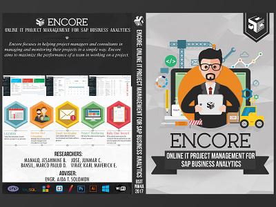 Encore: Online IT Project Management For SAP Business Analytics flat illustration flat design flat sap project management thesis icons illustrator design branding logo vectors illustration photoshop