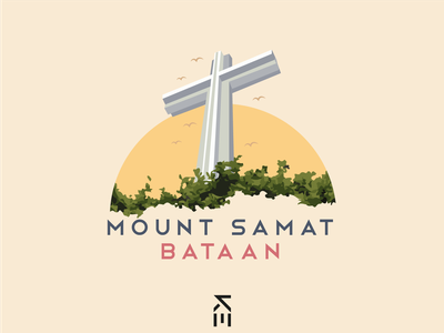 Shrine of Valor flat illustration flat design flat illustrator philippines bataan mount samat shrine of valor valor shrine vectors vectorart illustration