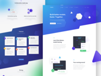 🔷 TinyMind — landing page tonik gradient website web ux ui purple blue minimal layout landing page homepage clean