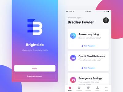 Financial Assistant  💸 ux ui mobile gradient iphone ios assistant financial application app