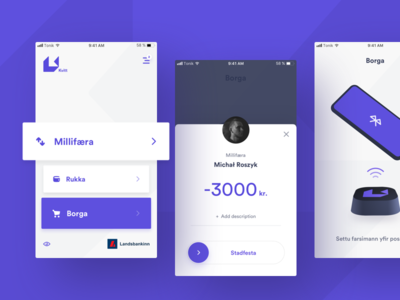 Contactless payment app ux ui mobile interface ios design payment finance clean app