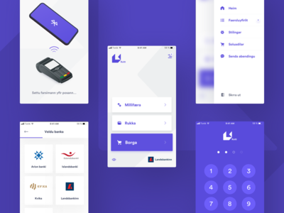 Contactless payment app part II ux ui mobile interface ios design payment finance clean app