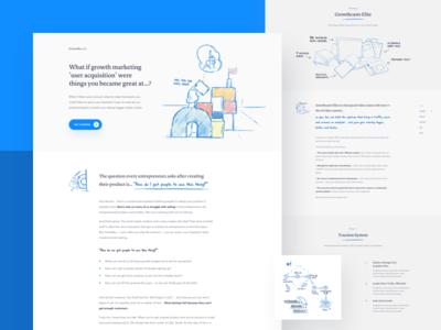 GC 🌴 video course gray blue clean minimal website web business marketing ux ui