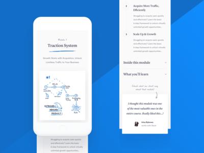 GC2 🏝 website web ux ui illustration gradient iphone mobile testimonial business blue