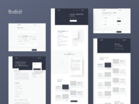 Bradfield   wireframes
