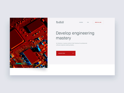 Bradfield — Homepage preview 👀 university after affects animation school computer science design landing page layout clean web minimal website ui ux