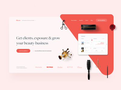 Beauty Business Customer Support — Landing Page 💅🏻 web ux ui tonik startup simple product minimal landing page design clean cosmetics care customer support wellness health beauty