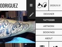 Tattoo site mobile menu