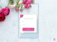 UI #04 Mobile App Sign Up