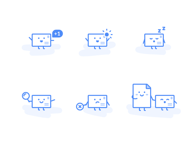 Mailplane Email Icons illustration attachment pause search notification icon email app