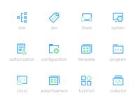Double color icon design