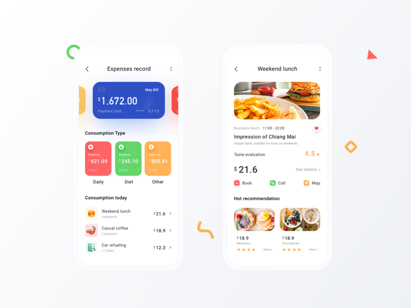 Daily spend page subscription mobile icon simple app clean ui spending