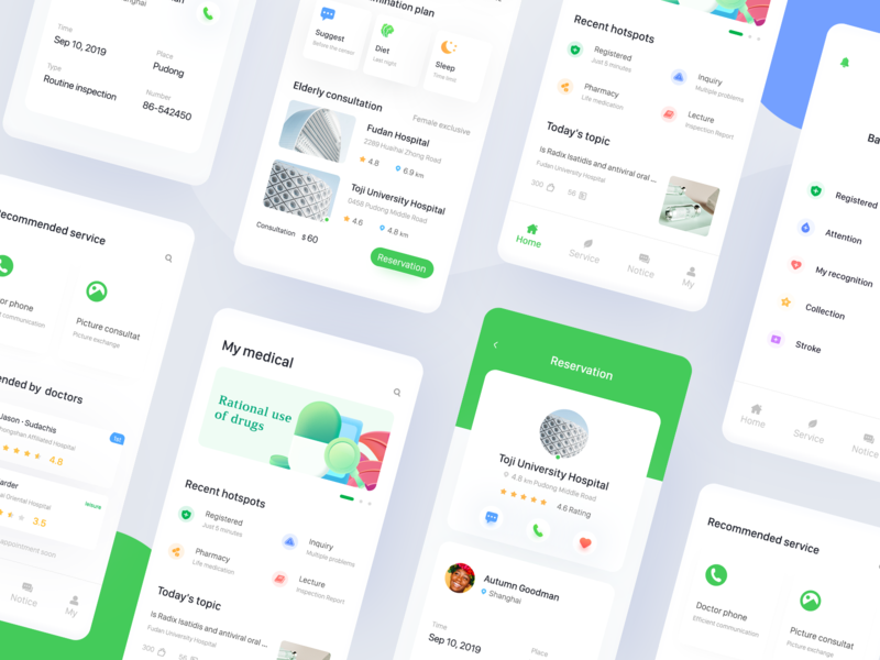 Personal medical application simple design ux app clean ui