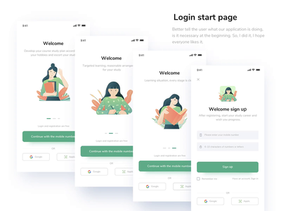 Youth Education Launch Login Page animation register log in youth education youth education mobility mobile simple illustration app clean ui