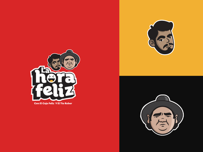 La Hora Feliz Podcast Branding Concept nicaragua mexicano logo design concept logodesign cartoon illustration cartoon character mascotlogo mascot youtube spotify improvisation standup comedy show podcast branding concept brand identity branding design fanart