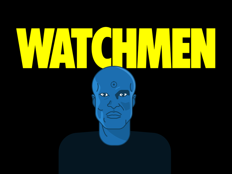 Watchmen dribbleweeklywarmup weekly warm-up weeklywarmup tv series fan art fanart doctor manhattan watchmen