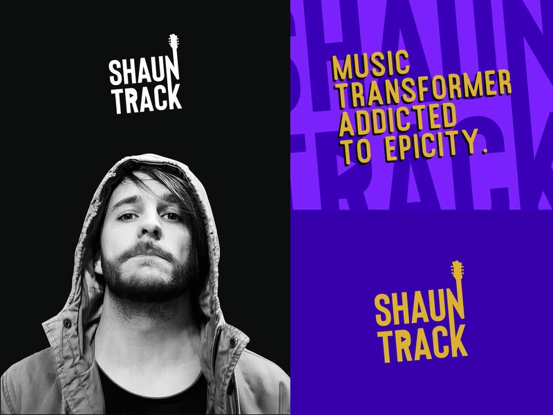 ShaunTrack Rebranding branding design branding guitar rock youtuber youtube musician music