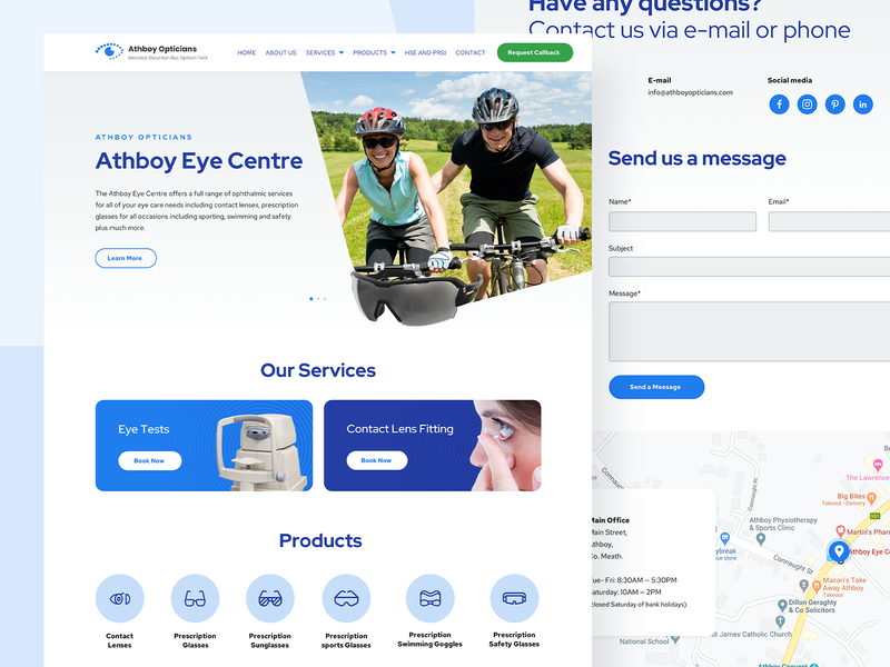 Athboy Optiticians Redesign glasses eyewear medical optical healthcare