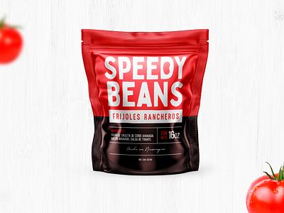 Speedy Beans packaging nicaragua packing design packaging package pork mexican food food packaging food label food beans