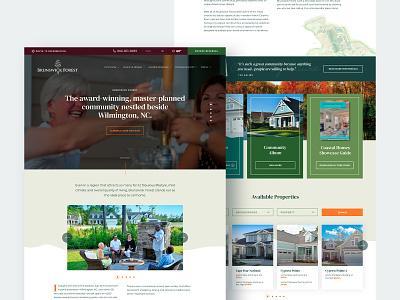 Brunswick Forest community ui  ux ui  ux design ui uidesign residential residence real estate agency realestate