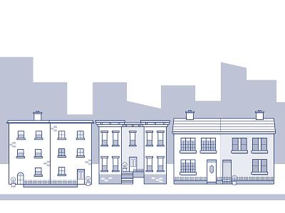 City Skyline buildings illustrations city skyline ireland city vector