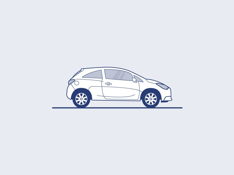 Opel Corsa Illustration car vector car illustration car