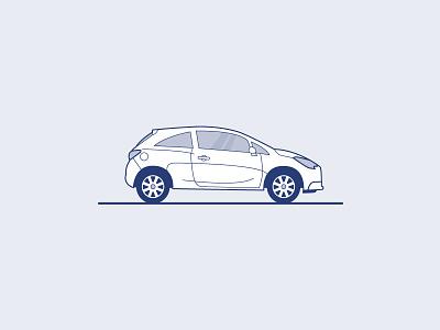 Opel Corsa Illustration car vector car illustration car