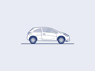 Opel Corsa Illustration