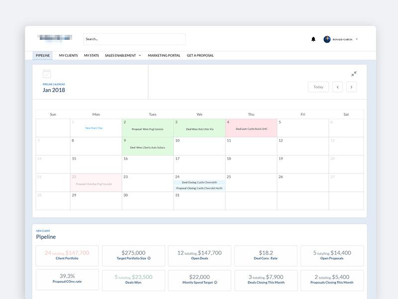 Calendar Dashboard ux dashboard calendar