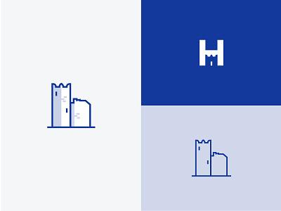 Castle Icon Refresh Exploration h letter dental logo dental clinic logo refresh castle logo castle icon logo icon