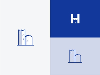 Castle Icon Refresh Exploration h letter dental logo dental clinic logo refresh castle logo castle icon logo icon