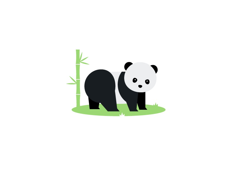 Panda animal illustration panda bear minimalist minimal nature animals panda