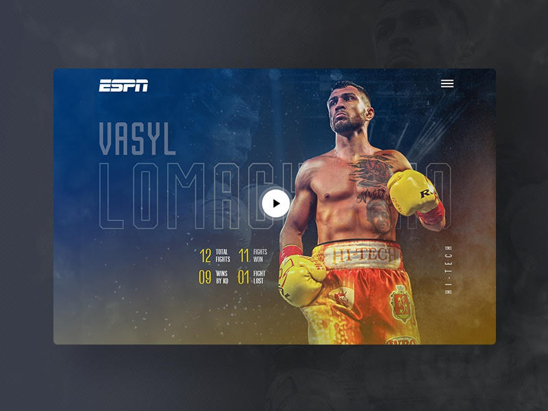 Lomachenko Fan Art hero banner sports ui web boxer sport