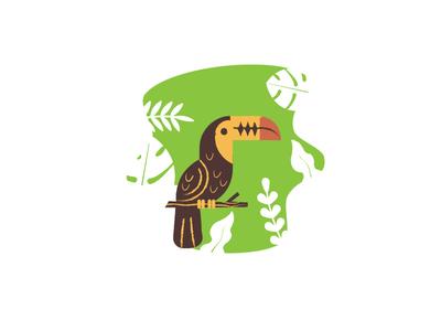 Toucan Illustration minimal illustration nature design minimal illustration animal illustration
