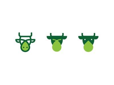 Cow + Drop Icon Exploration