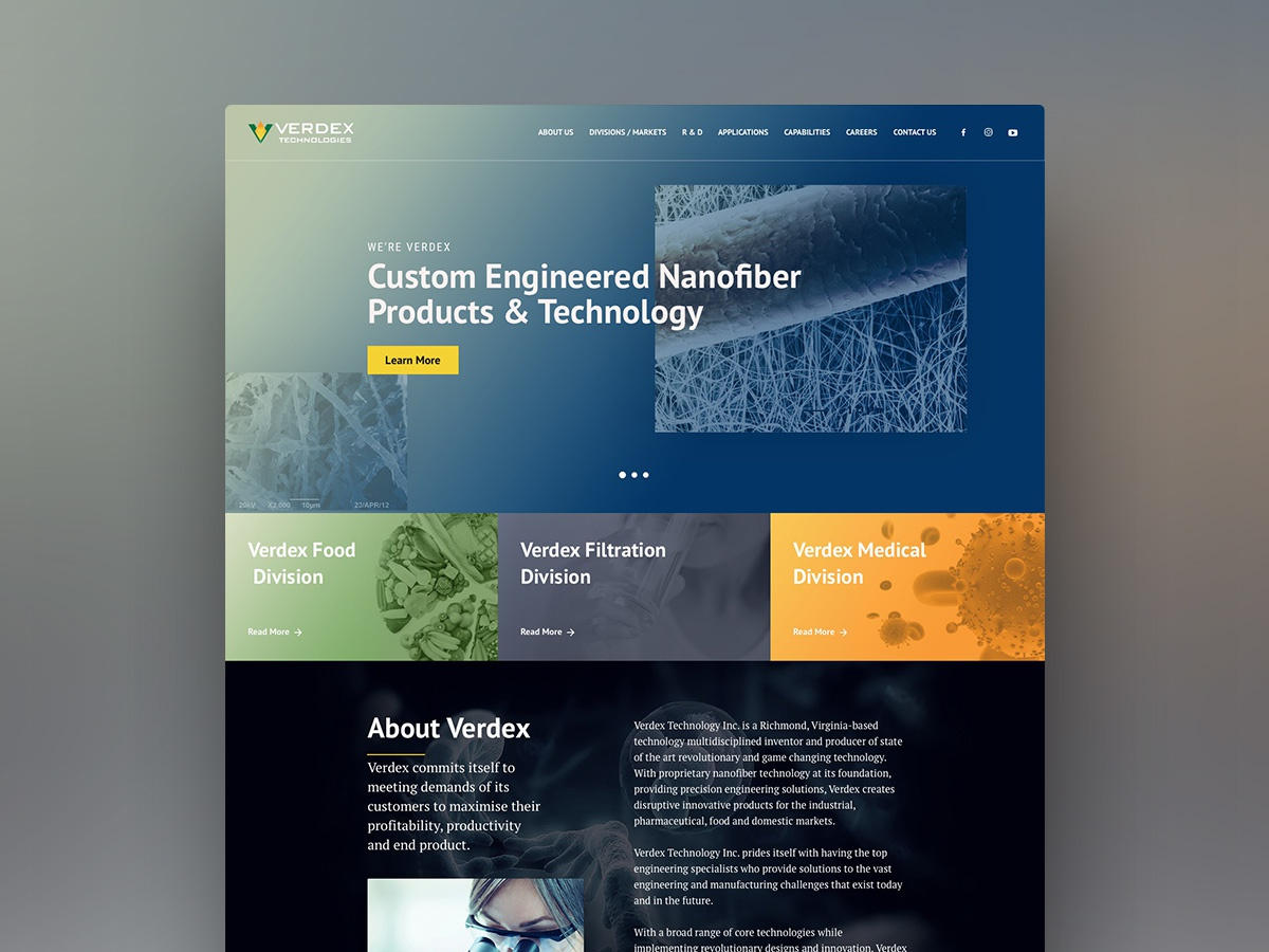 Redesign proposal uidesign home app landing page medical science